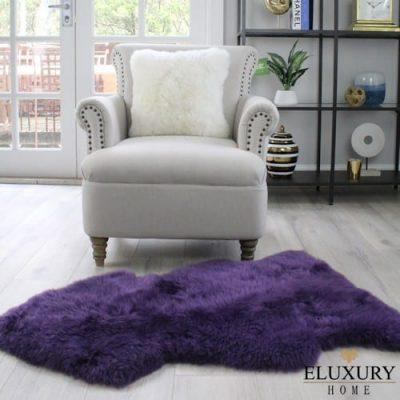 Purple Sheepskin - Merino