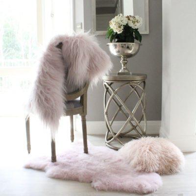 Light Pink Sheepskin - Icelandic Shorn