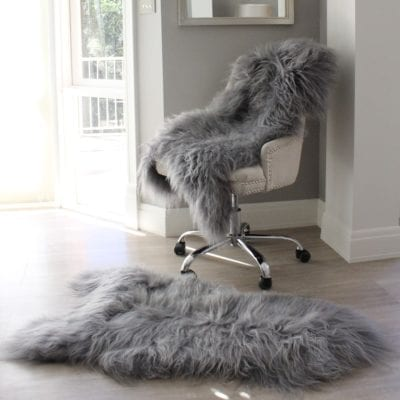 Icelandic Sheepskin Rug - Grey