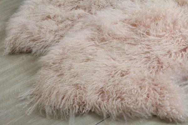 natural edge mongolian sheepskin rug
