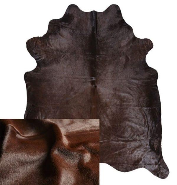 Cowhide Rug - Dark Brown Dyed