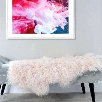 Mongolian Sheepskin - Light Pink