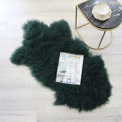 Mongolian Sheepskin - Emerald Green
