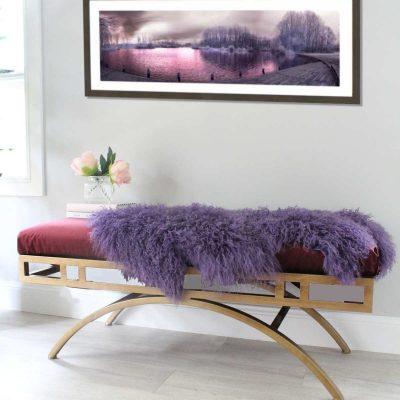 Mongolian Sheepskin - Purple