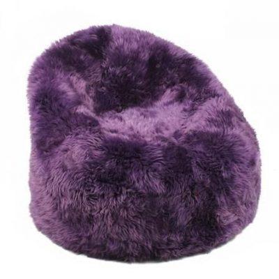 Sheepskin Bean Bag - Purple Merino