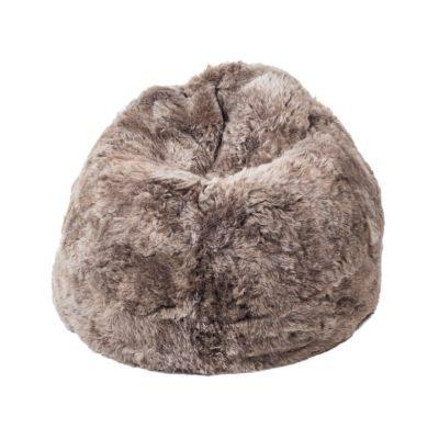 Sheepskin Bean Bag Black - Short Wool