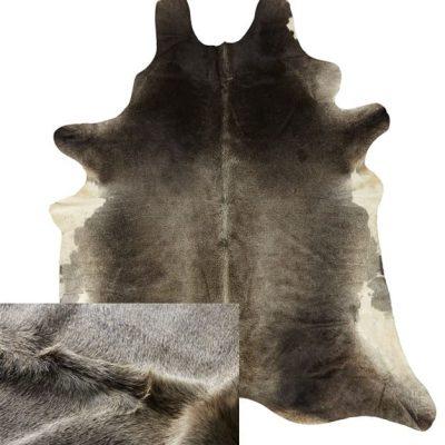 Grey Cowhide Rug - Dark