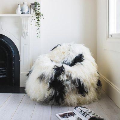 Shaggy Bean Bag Natural White - Icelandic Sheepskin