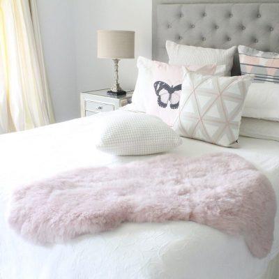 Pink Sheepskin Throw - Icelandic Short Wool