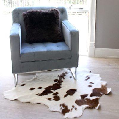 Calf skin Rug - White & Brown
