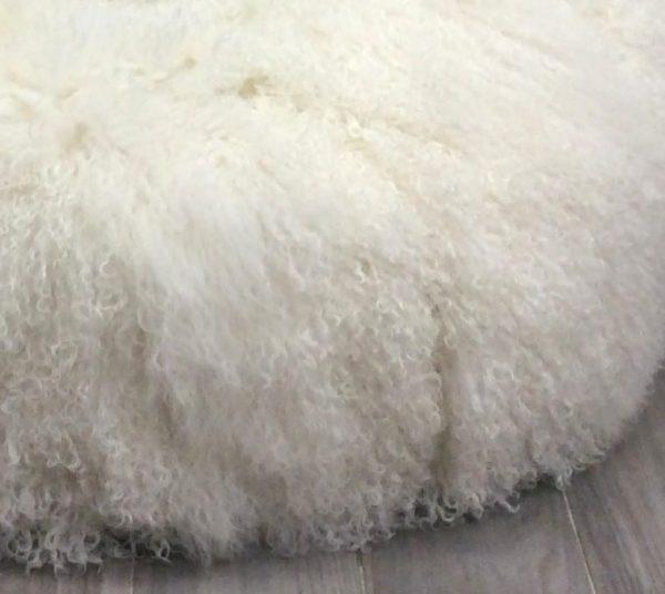 Mongolian Sheepskin Bean Bag - Milk