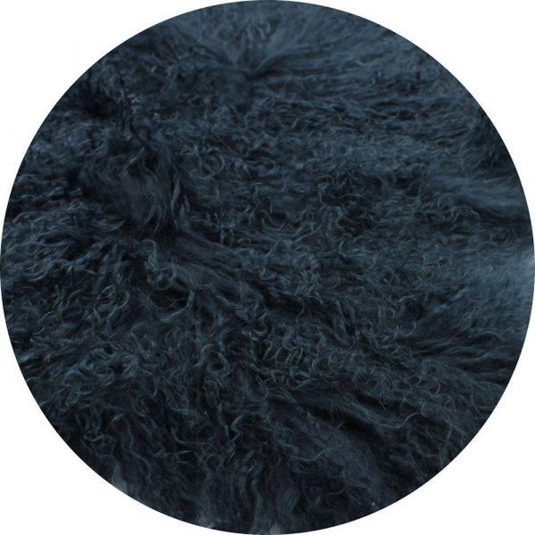 Fur Bean Bag - Sailor Blue Mongolian Sheepskin