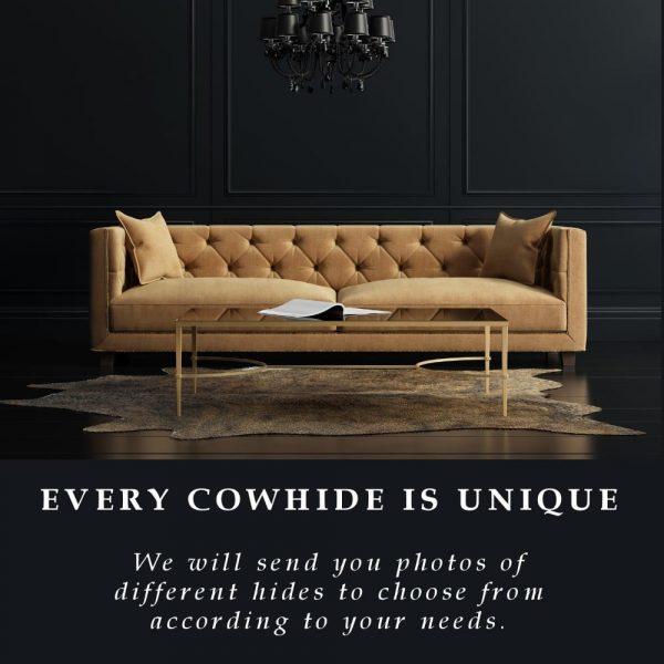 Cowhide Rug - Dark Brindle Exotic