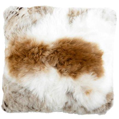 alpaca cushion -tan