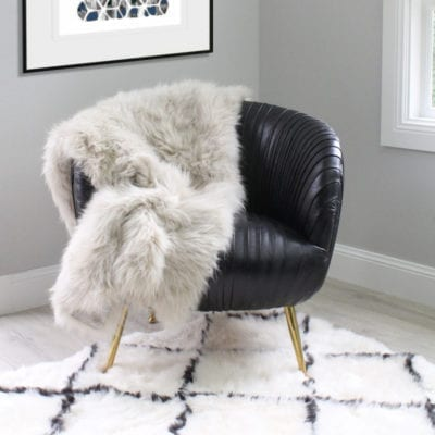 cream fur throw cashmere