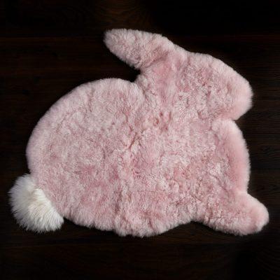pink rabbit rug