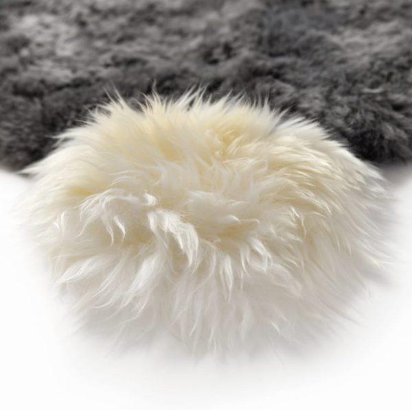 rabit shaped rug - pom pom tail