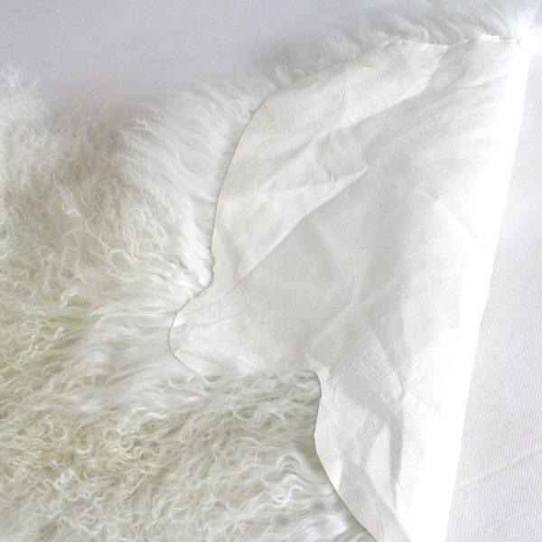 Fur Bed Runner Milk - Mongolian Duo-03-2