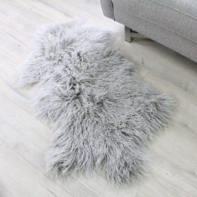 Mongolian Sheepskin - Grey White Tip