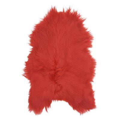icelandic sheepskin-Rug-Coral-Red-1