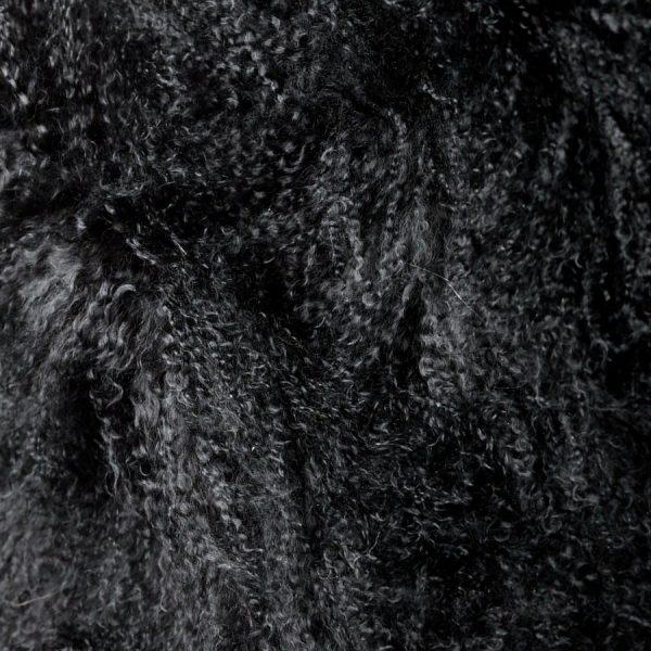 Black Fur Throw - Mongolian Duo2