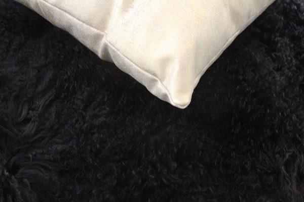Black Fur Throw - Mongolian Duo4