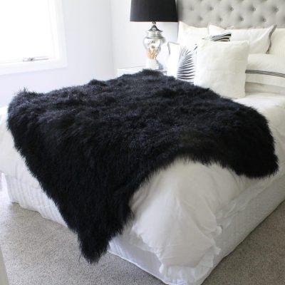 black fur blanket mongolian