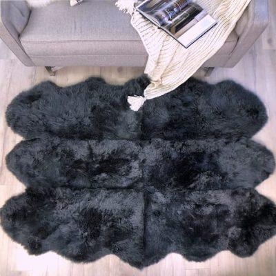 steel grey sheepskin rug sexto