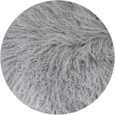 grey fur blanket