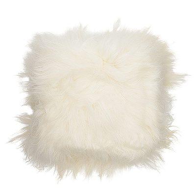 sheepskin floor cushion white