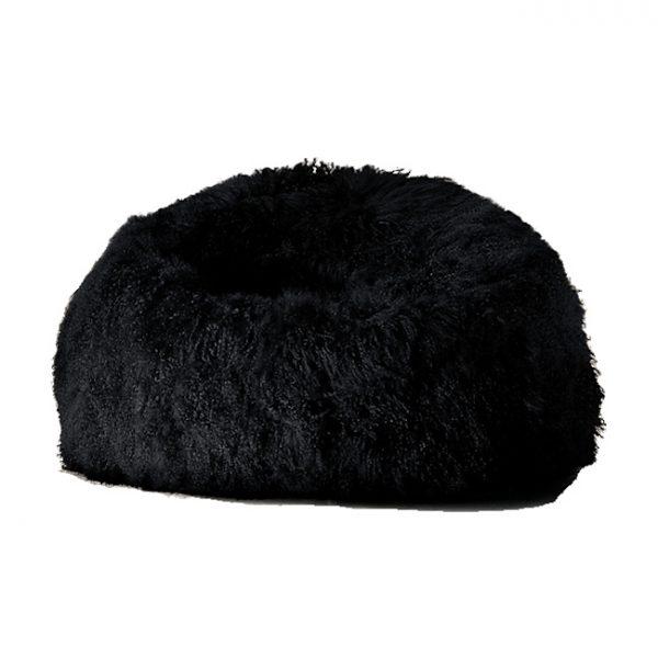 black-fur-bean-bag-mongolian