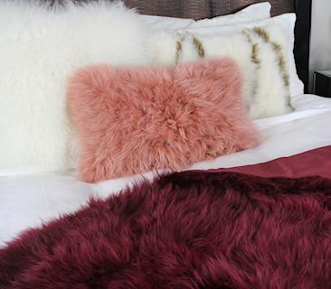 Cashmere Fur Throws