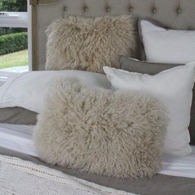 mongolian cushions latte