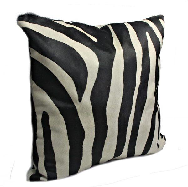 zebra cushion-side view