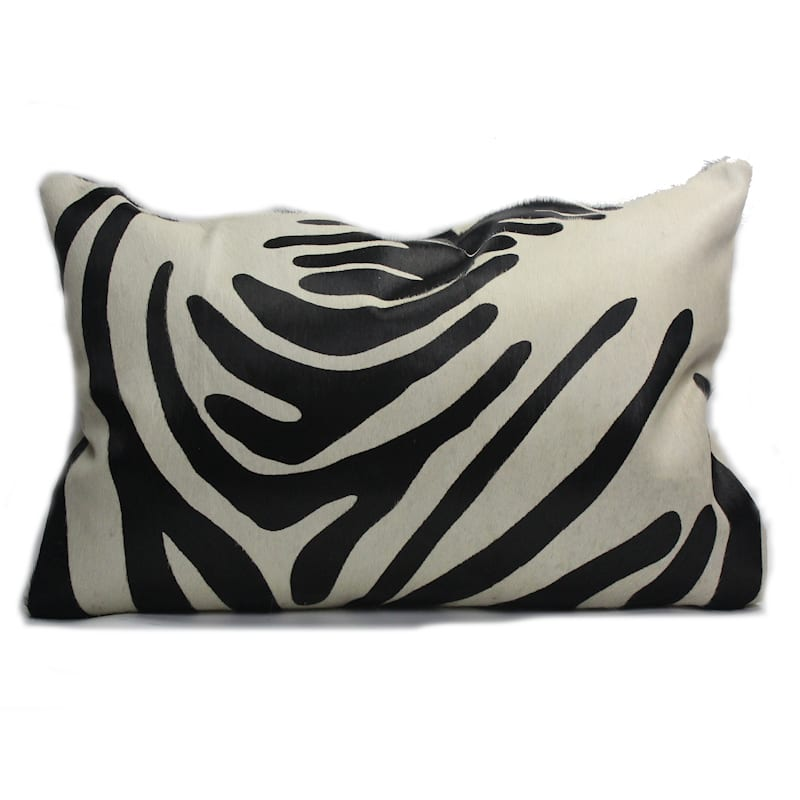 Zebra Print Pillows Genuine Cowhide Eluxury Home