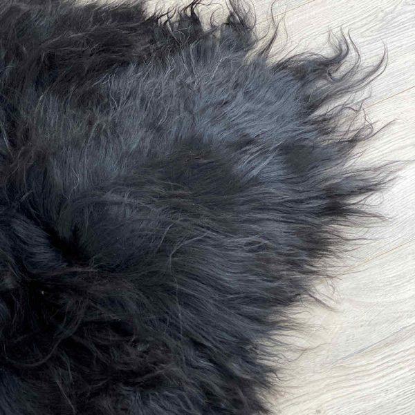 icelandic sheepskin - natural black