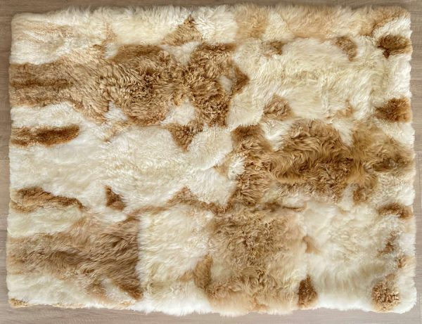 alpaca blanket tan & natural white
