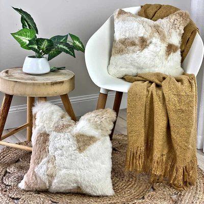 alapaca cushions caramel - light