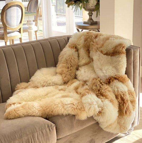 alpaca fur blanket