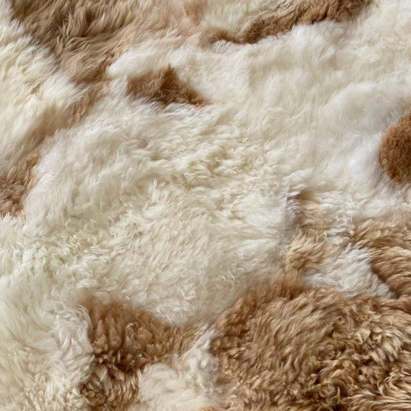 alpaca wool tan and natural white