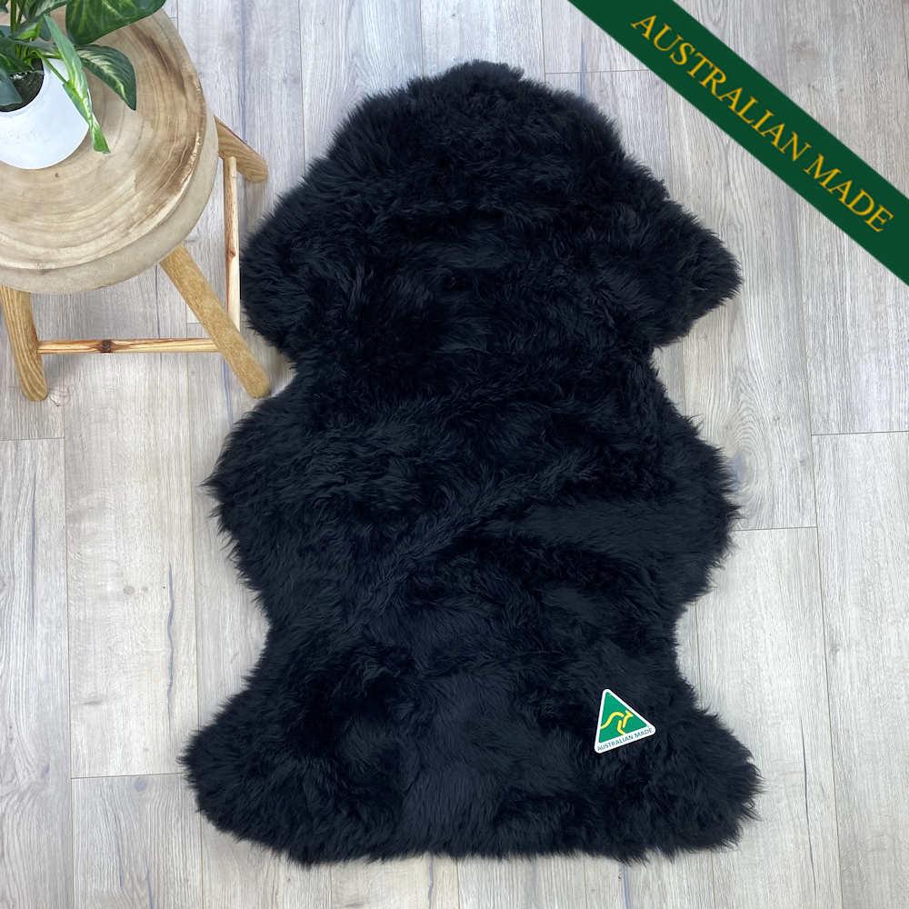 australian-sheepskin-black-made-in australia