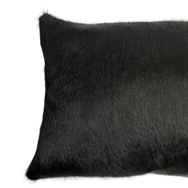 black cowhide cushion fur