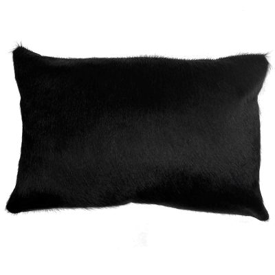 black cowhide cushion 35x50cm