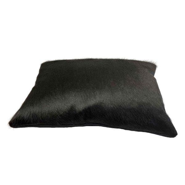 black cowhide cushion - side view
