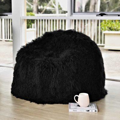 black-fur-bean-bag-eluxury-home