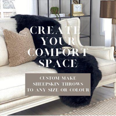 custom make sheepskin throws banner