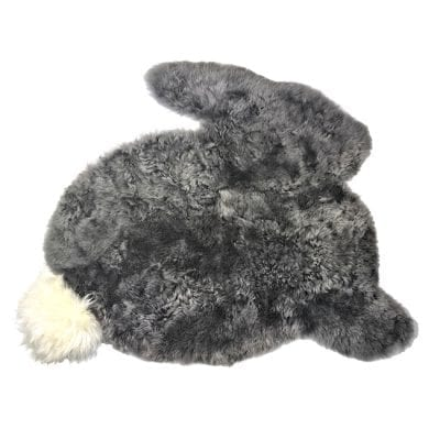 Rabbit shsped rug - grey