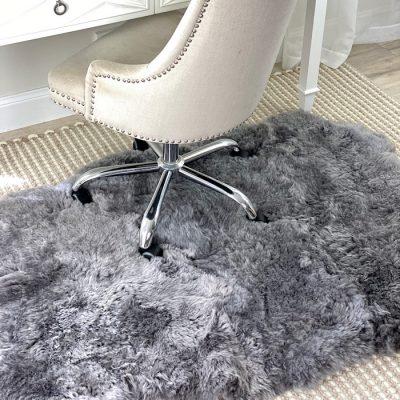 grey sheepskin rug icelandic