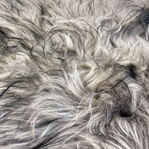 icelandic sheepskin taupe - black tip
