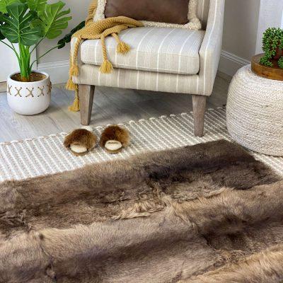 kangaroo skin rug